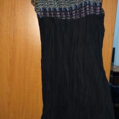 Rochie neagra transparenta / camasa noapte marimea M L - Rochie de zi Zara, Culoare: Negru, Cu bretele