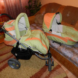 Carucior bertoni 3 in 1 - Carucior copii 3 in 1 Bertoni, 1-3 ani, Pliabil, Verde, Maner reversibil