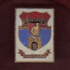 INSIGNA STEMA SIGHISOARA, Romania de la 1950