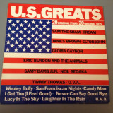 U.S. GREATS - 20 ORIGINAL STARS - selectie ROCK (1975/POLYDOR REC/RFG) - VINIL
