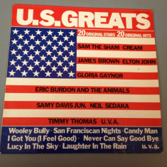U.S. GREATS - 20 ORIGINAL STARS - selectie ROCK (1975/POLYDOR REC/RFG) - VINIL - Muzica Rock universal records