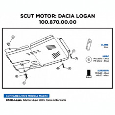 Scut motor metalic Dacia Logan - Scut motor auto, Universal