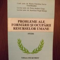 PROBLEME ALE FORMARII SI OCUPARII RESURSELOR UMANE - STUDII - MARTA CHRISTINA SUCIU - Carte Resurse umane
