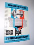 Pliant prezentare Turbosuflante pentru supraalimentarea motoarelor diesel in patru timpi, anii '60