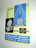 Pliant / brosura Hidromecanica Brasov - Frane hidraulice, anii '60