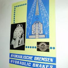 Pliant / brosura Hidromecanica Brasov - Frane hidraulice, anii '60 - Pliant Meniu Reclama tiparita