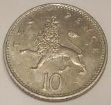 G7. ANGLIA / MAREA BRITANIE 10 PENCE 1992, 6.50 g, 24.5 mm, Elizabeth II, XF **