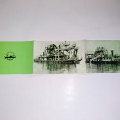 Pliant prezentare Utilaj pentru dragare nepropulsat, pentru lacuri si rauri, anii '60 - Pliant Meniu Reclama tiparita