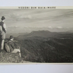 CARTE POSTALA NECIRCULATA BAIA MARE ANII 40 CU STAMPILA MINISTERUL INFORMATIILOR SUBCENTRUL BAIA MARE - Carte Postala Maramures dupa 1918