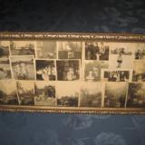 Stativ Rama argintie lemn cu fotografii vechi model deosebit Franta. Stativ perioada 1900- 1930 - Fotografie