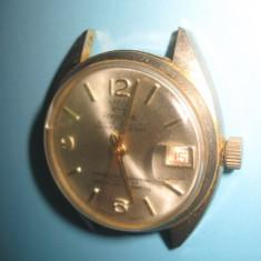 REMINGTIME-SuperDeLuxe Swiss-1Rubin, metal, nefunctional, defect. - Ceas barbatesc, Elegant, Mecanic-Manual, Placat cu aur, Analog, 1970 - 1999
