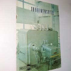 Pliant romanesc de prezentare pentru diverse turbine, Resita anii '60 ( in limba germana) - Pliant Meniu Reclama tiparita