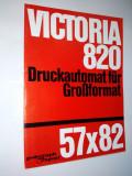 Pliant Polygraph Victoria, masina de printat format mare 57x82 anii '60