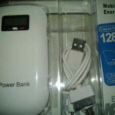 Baterie Externa 12800 mAh afisat LCD ( 12 amperi) Universala cu dubla iesire / Power Bank - Samsung