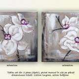 Tablou floral diptic (3) - tablou set 2 piese (120x60cm) - Reproducere, Flori