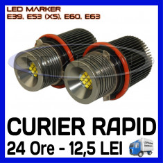 ANGEL EYES LED MARKER - E39, E53 X5, E60, E63 - 45W CREE High Power - ALB 5000K
