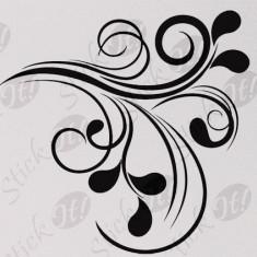 Floral_Tatuaj De Perete_Sticker Decorativ_WALL-129-Dimensiune: 35 cm. X 35 cm. - Orice culoare, Orice dimensiune - Tapet