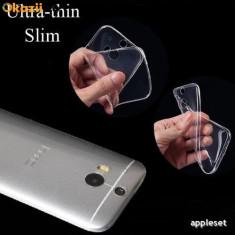 Husa HTC ONE M8 TPU Ultra Thin 0.3mm Transparenta Rosie
