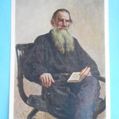HOPCT12814  RUSIA PICTURA I.E. REPIN [ 1844-1930 ] / PORTRETUL SCRIITORULUI L.N. TOLSTOI       [ NECIRCULATA]