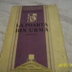 La poarta din urma-poesii-g. gregorian-1934 - Carte veche