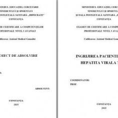 LUCRARE DE LICENTA A.M.G. - INGRIJIREA PACIENTILOR CU HEPATITA VIRALA TIP A (+ PREZENTARE POWER POINT)