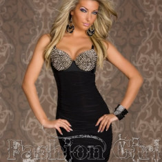 Rochie Sexy Club DIVA ATITUDE METALLIC Bra Dress / ocazie speciala, zi, seara, party, club, disco, banchet!| PESTE 2500 CALIFICATIVE POZITIVE