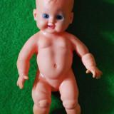 Papusa bebe vintage cauciuc,  anii 50-60, cu stanta Rubber Toys Italy