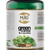 Cafea verde, green coffee&l-carnitine, capsule pentru slăbit, 60cps/500mg