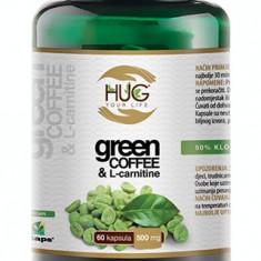 Cafea verde, green coffee&l-carnitine, capsule pentru slăbit, 60cps/500mg - Dieta