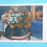 HOPCT 12840 RUSIA PICTURA - PAUL GAUGUIN / PICTOR FRANCEZ [ 1848-1903 ] / FLOAREA SOARELUI            [ NECIRCULATA ]