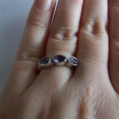 Inel argint zirconii bleu-lila i34 - 611