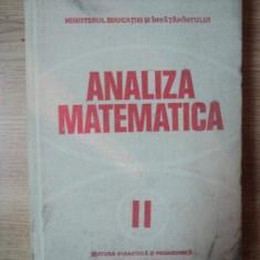 ANALIZA MATEMATICA, VOL.2 EDITIA A III-A, BUC.1980 - Carte Matematica