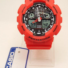 Ceas CASIO G SHOCK ga100-red edition - Ceas barbatesc Casio, Sport