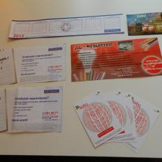 Set de 10 calendare de colectie, anul 2012, mari si mici, ideale pentru colectionari, colectie calendare, diverse tematici, inclusiv Loteria Romana - Calendar colectie