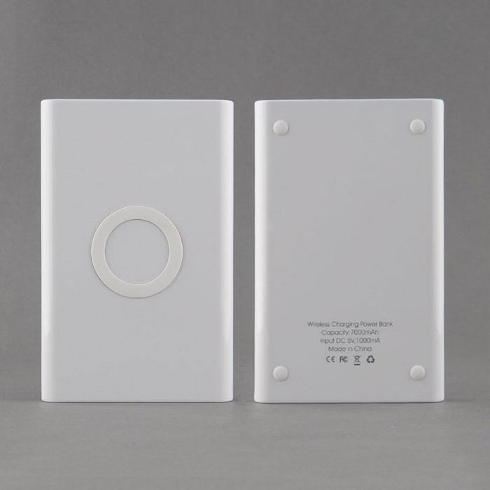 Combo (baterie externa 7000 mAh +incarcator wireless) pt. telefoane mobile