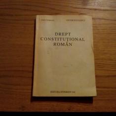 DREPT CONSTITUTIONAL ROMAN  --Dan Ciobanu, V. Duculescu --   1993, 242 p., Alta editura
