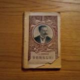 ION LUCA CARAGIALE -- VERSURI * Stante Elegiaco-Satirice -- 1922, 179 p. - Carte veche