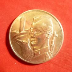 Medalie 20 Ani Armata Populara DDR - Graniceri, d= 4 cm, metal alb