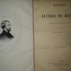OEUVRES DE ALFRED DE MUSSET ORNEES DE DESSINS DE M. BIDA, GRAVES EN TAILLE DOUCE PARIS 1867 - Carte veche