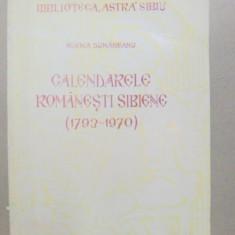 CALENDARELE ROMANESTI SIBIENE-ELENA DUNAREANU SIBIU 1970