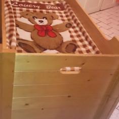 Patut lemn bebe - Patut lemn pentru bebelusi, 160X70cm, Altele