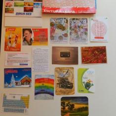 Set de 20 calendare de colectie, anul 2012, mari si mici, ideale pentru colectionari, colectie calendare, diverse tematici - Calendar colectie
