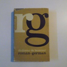 DICTIONAR DE BUZUNAR, ROMAN - GERMAN, EDITIA A - II - A de MIHAIL ISBASESCU, 1967 - Carte in alte limbi straine
