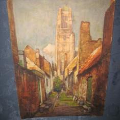 Set de  3 reproduceri foto vechi anii 1950 dupa pictori celebri Belgia