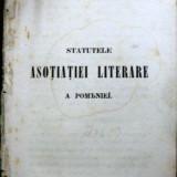 STATUTELE ASOCIATIEI LITERARE A ROMANIEI - Carte veche