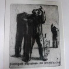 MIRCEA DIMITRESCU- GRAVURA - Pictor roman