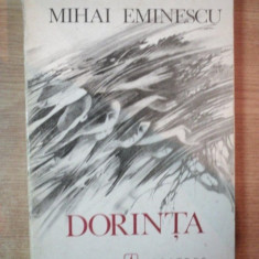 DORINTA de MIHAI EMINESCU, COPERTA SI ILUSTRATII DE MIRCEA DUMITRESCU - Roman