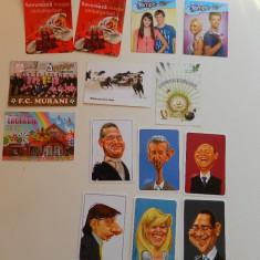 Set de 14 calendare de colectie, anul 2013, de buzunar, ideale pentru colectionari, Flacara, diverse tematici, inclusiv caricaturi politic - Calendar colectie