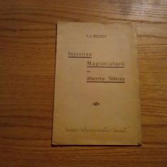 INJOSIREA MAGISTRATURII sau AFACEREA STARCEA -- V. I. Melinte -- 1933, 20 p. - Carte Teoria dreptului