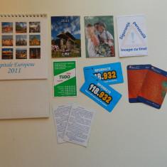 Set de 11 calendare de colectie, anul 2011, mari si mici, ideale pentru colectionari, colectie calendare, diverse tematici, inclusiv Capitale Europene - Calendar colectie